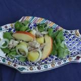 Maaltijdsalade met makreel en appel