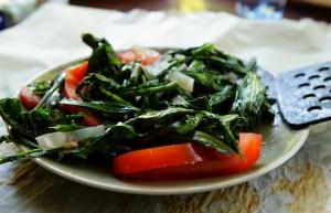 gewokte groente met tomaat